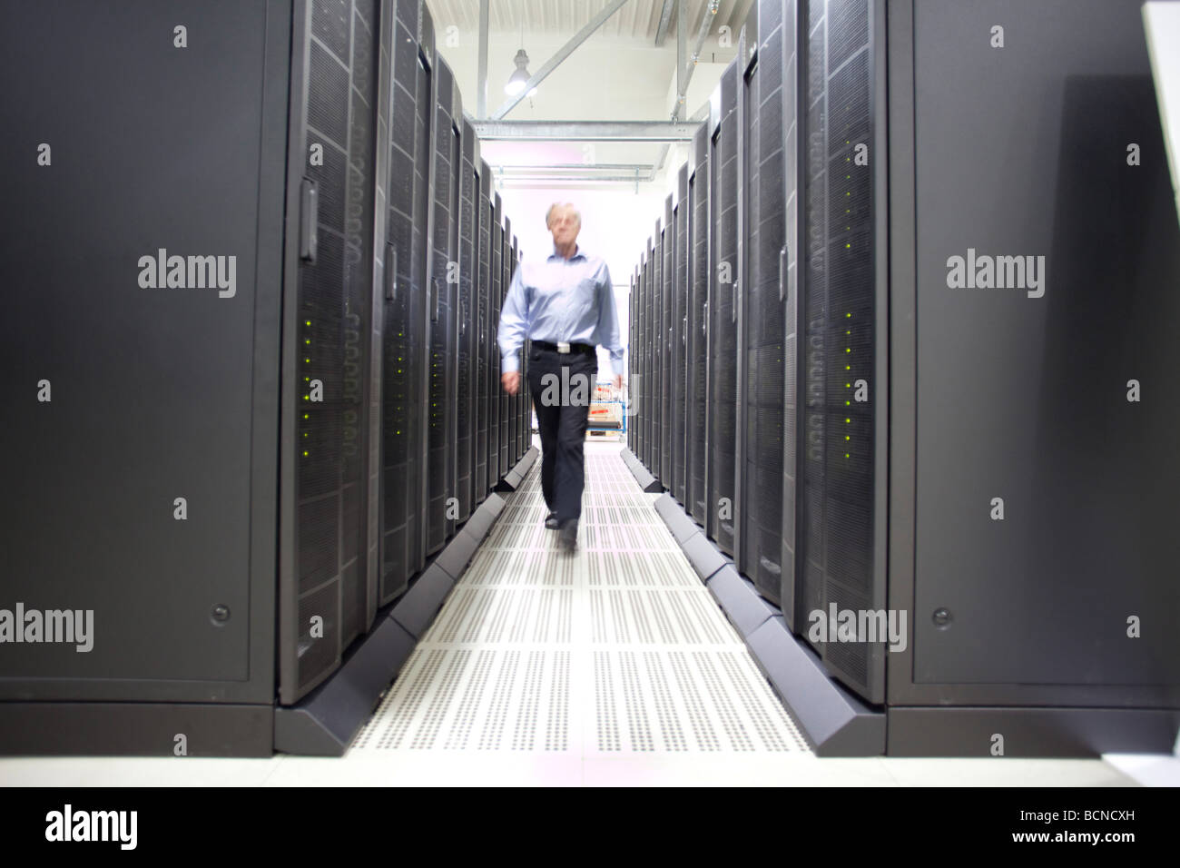 Supercomputer JUROPA Researchers from all disciplines make use of supercomputers in order to discover how the climate is changin Stock Photo