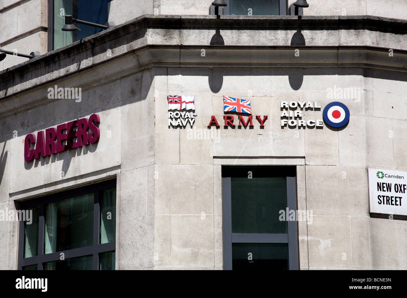 Armed forces careers office in central London - Stock Image