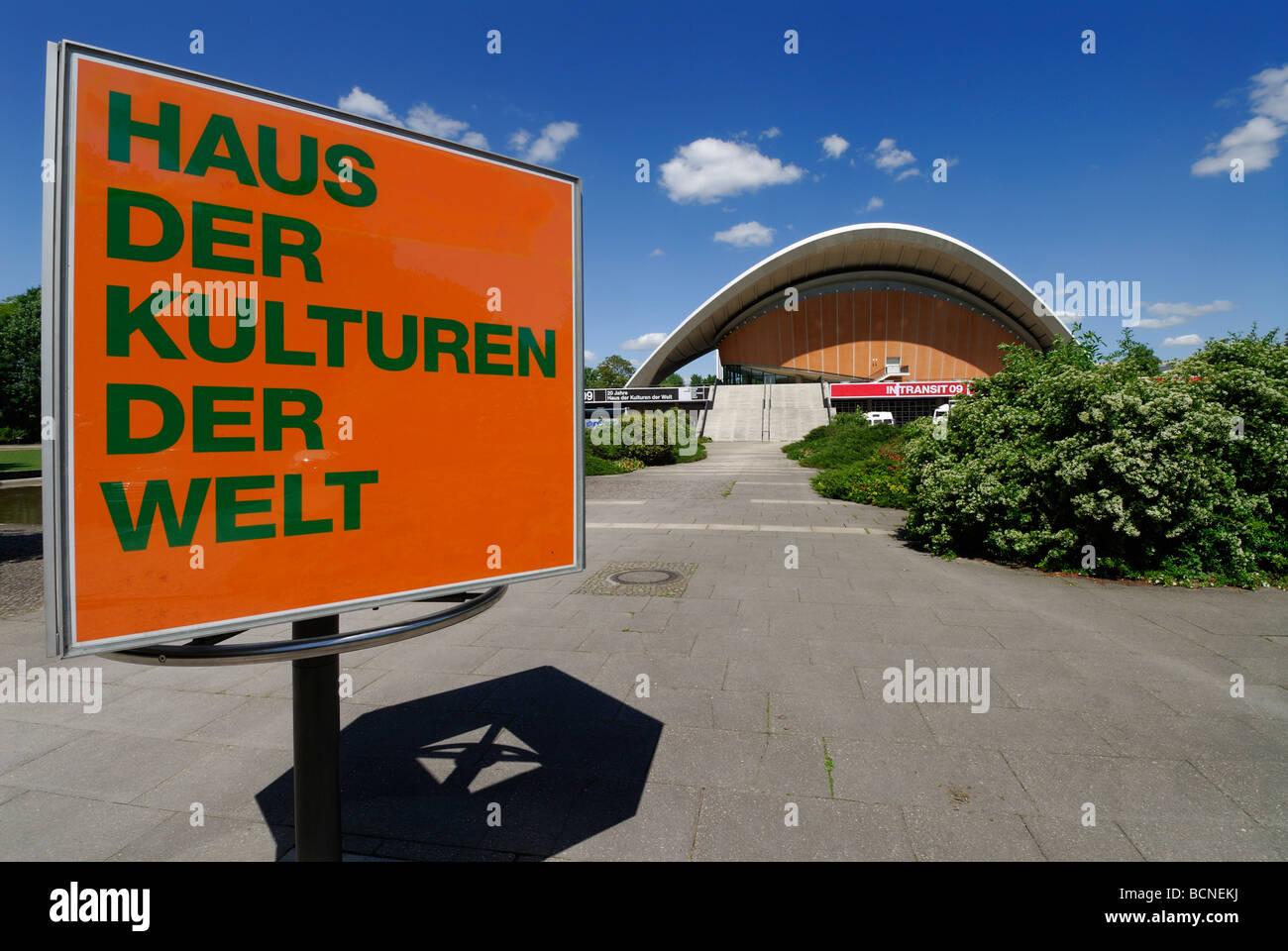 Berlin Germany Haus der Kulturen Der Welt House of World Cultures Designed in 1957 by American architect Hugh Stubbins - Stock Image