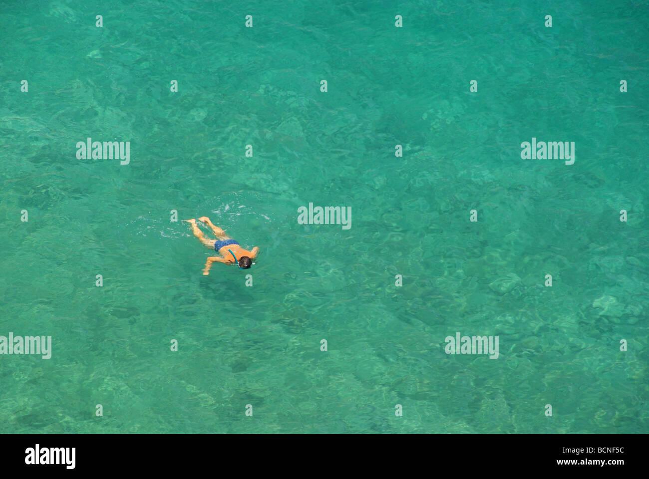 Schnorcheln snorkeling 01 - Stock Image