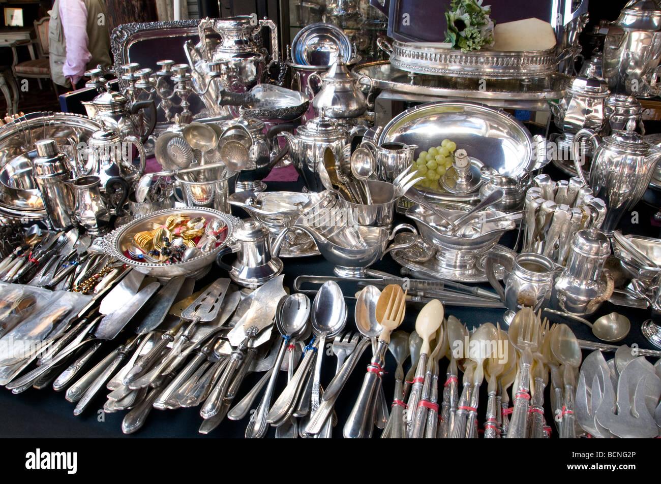 Marche aux puces de saint ouen flea market paris silver - Puces de st ouen ...