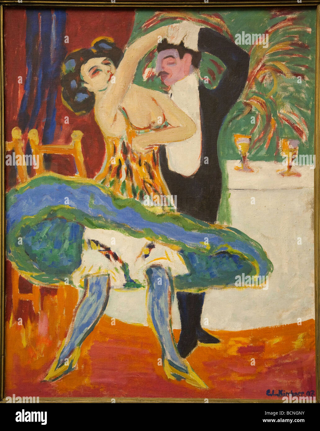Ernst Ludwig Kirchner 1880 to 1938 Variete 1910 oil on canvas - Stock Image