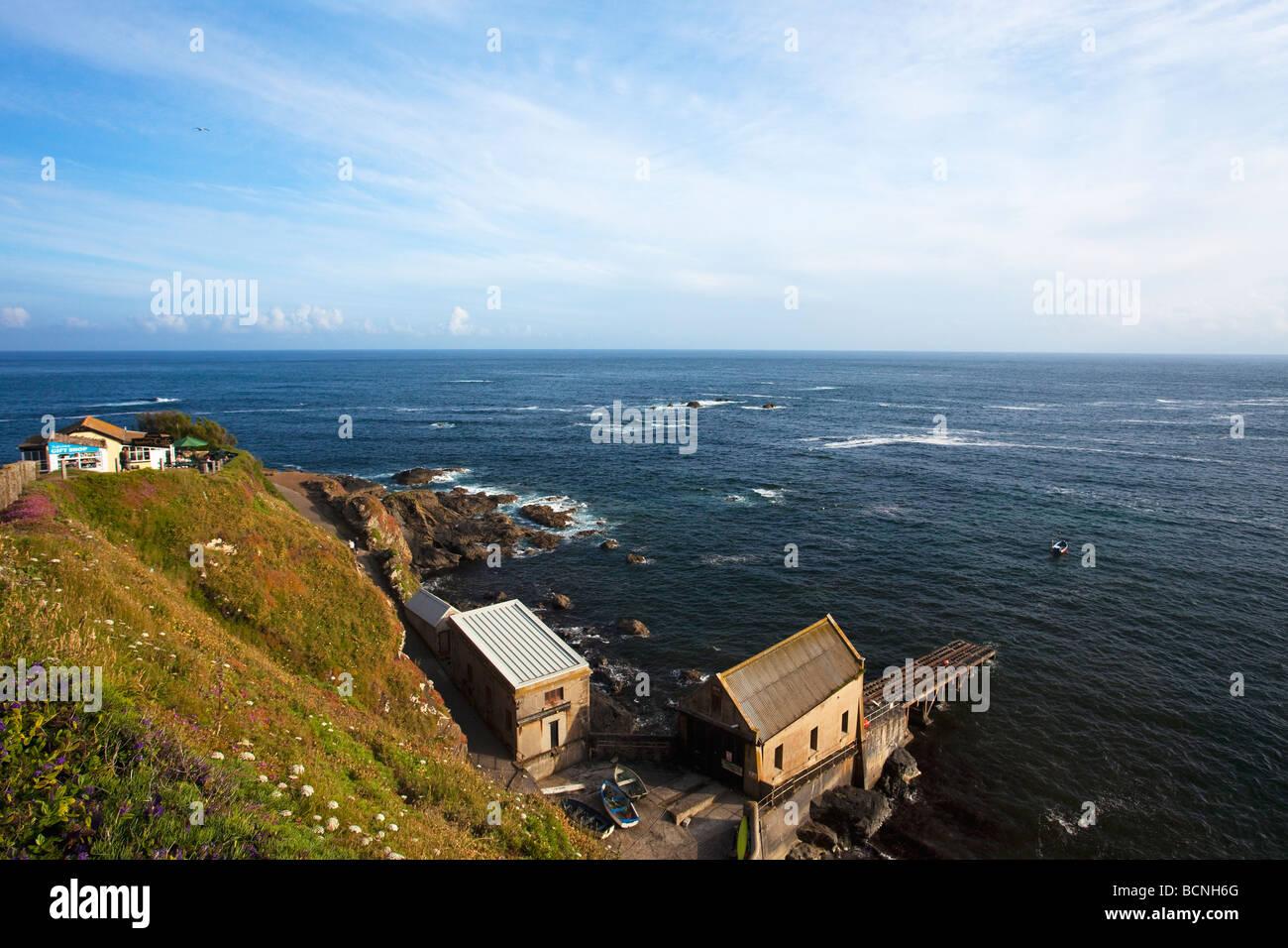 Lifeboat Station most southerly cafe Lizard Point summer sunshine June Cornish Riviera Cornwall England UK United - Stock Image