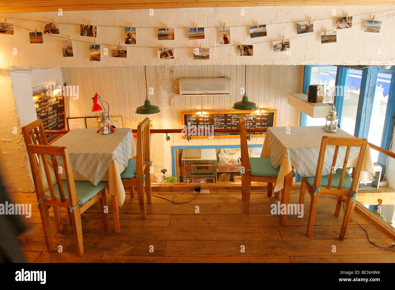 A Trendy Coffee Shop Baby Cat Cafe Gulangyu Island Xiamen Fujian Stock Photo Alamy