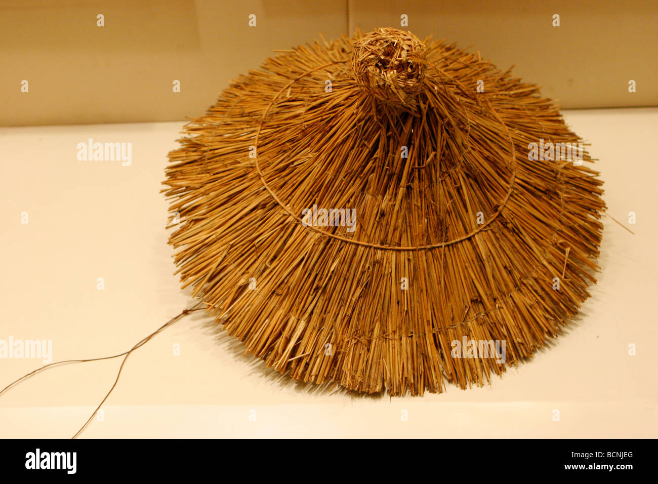 18981851 Kite with traditional Chinese bamboo hat design, The Kite Museum, Weifang,  Shandong Province, China