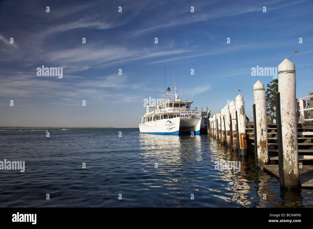 Dolphin and Whale Watching Boat Huskisson Jervis Bay New South Wales Australia - Stock Image