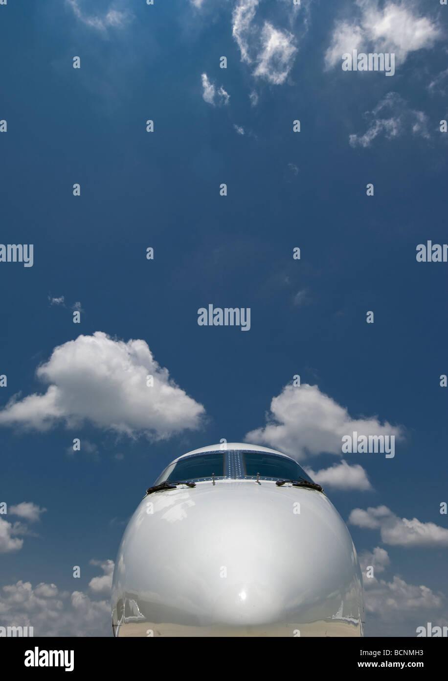 Nose of Jet Aircraft - Stock Image