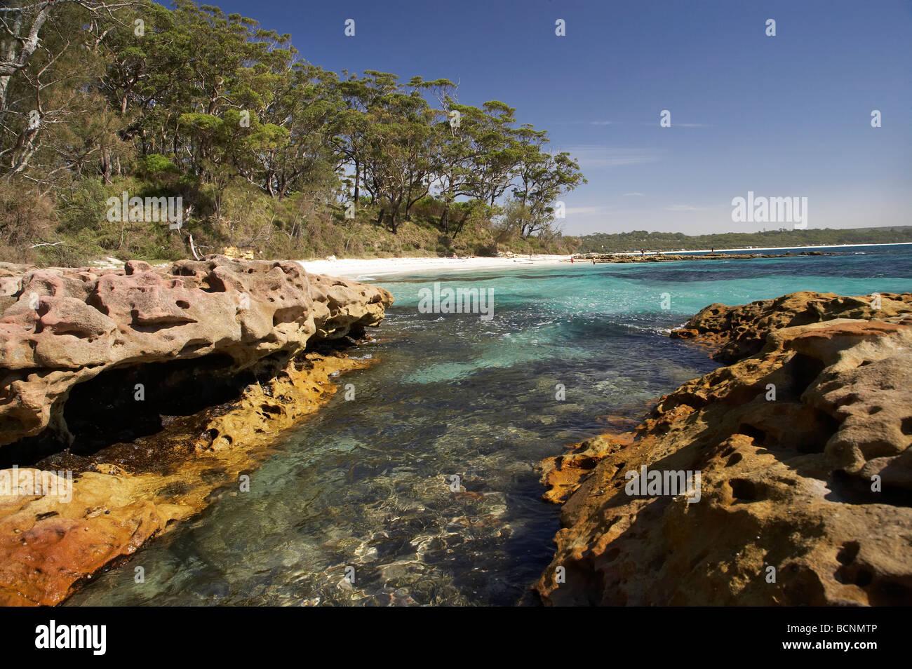 Beach at Bristol Point near Green Patch Beach Booderee National Park Jervis Bay Territory Australia Stock Photo