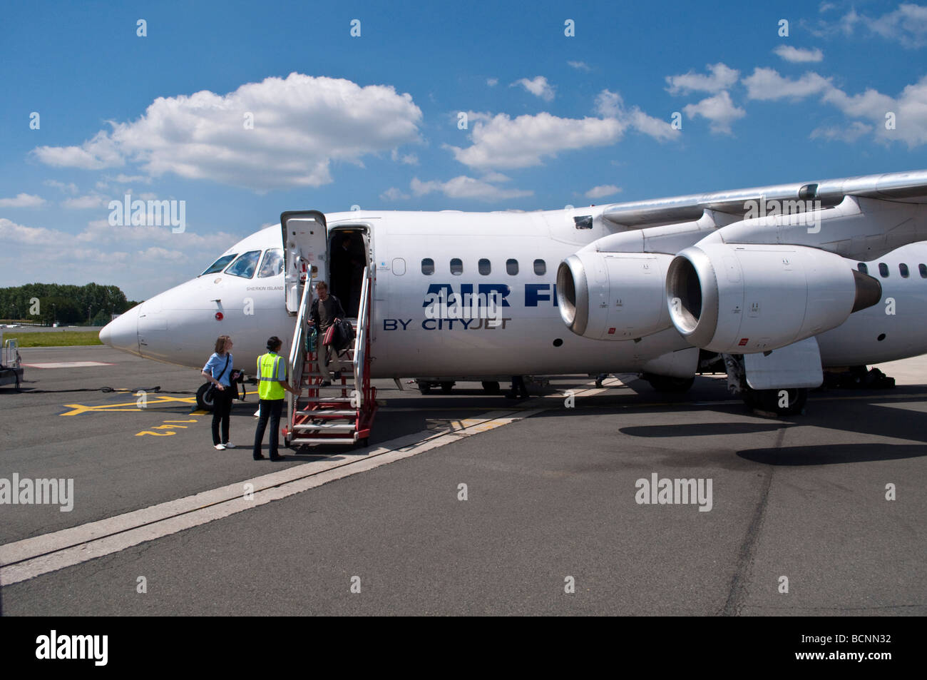 Air France small plane operated by CityJet - Stock Image