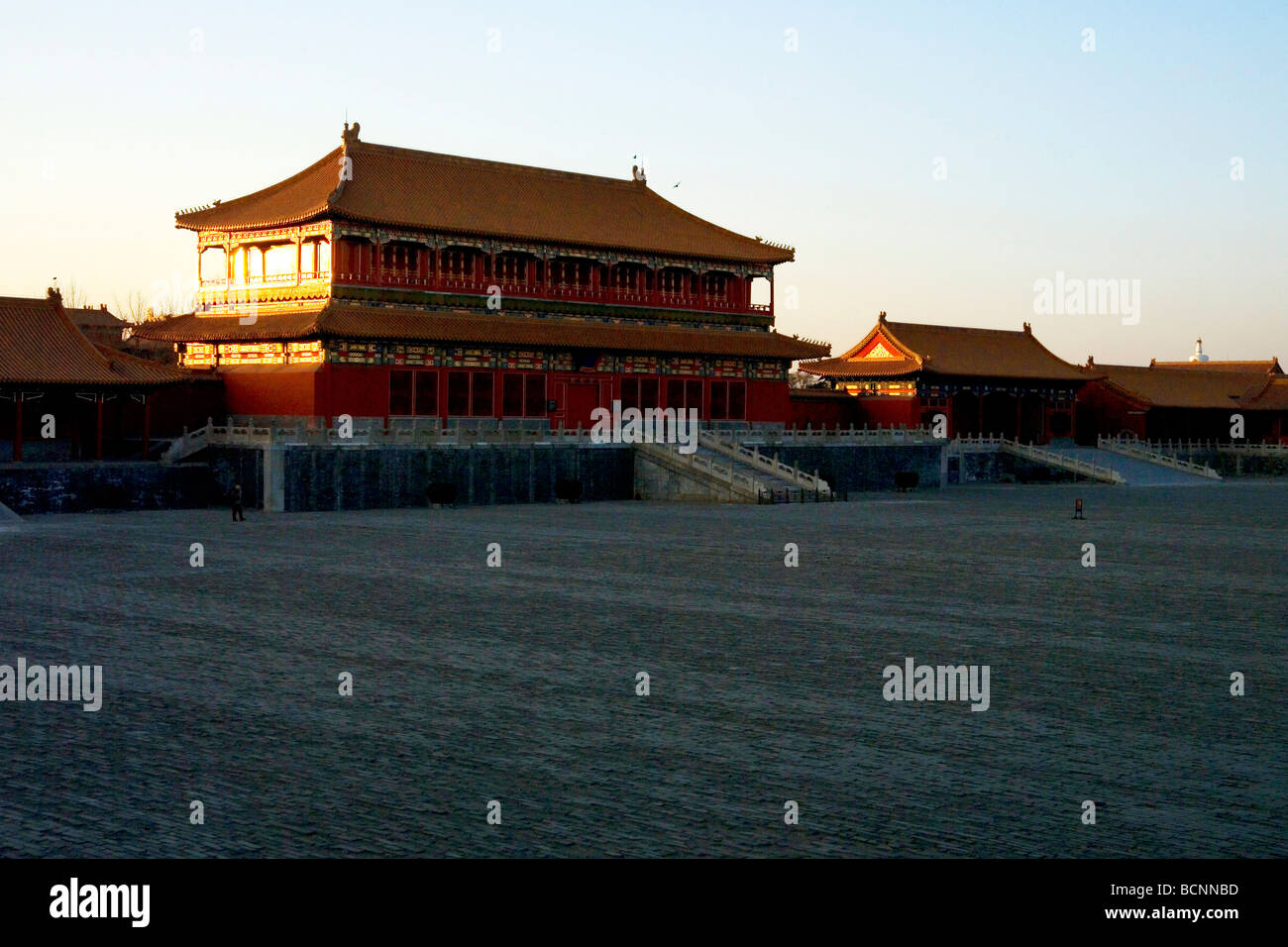 Hall of Glorifying Righteousness, Forbidden City, Beijing, China - Stock Image