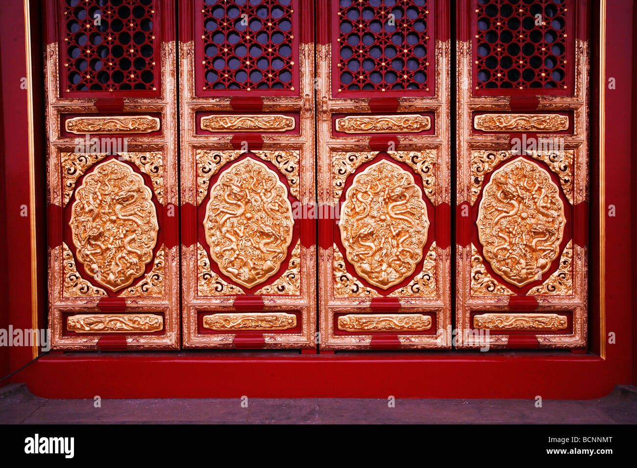 Elaborate door panels covered with gold leaf in dragon and cloud pattern Hall of Supreme  sc 1 st  Alamy : supreme door - Pezcame.Com