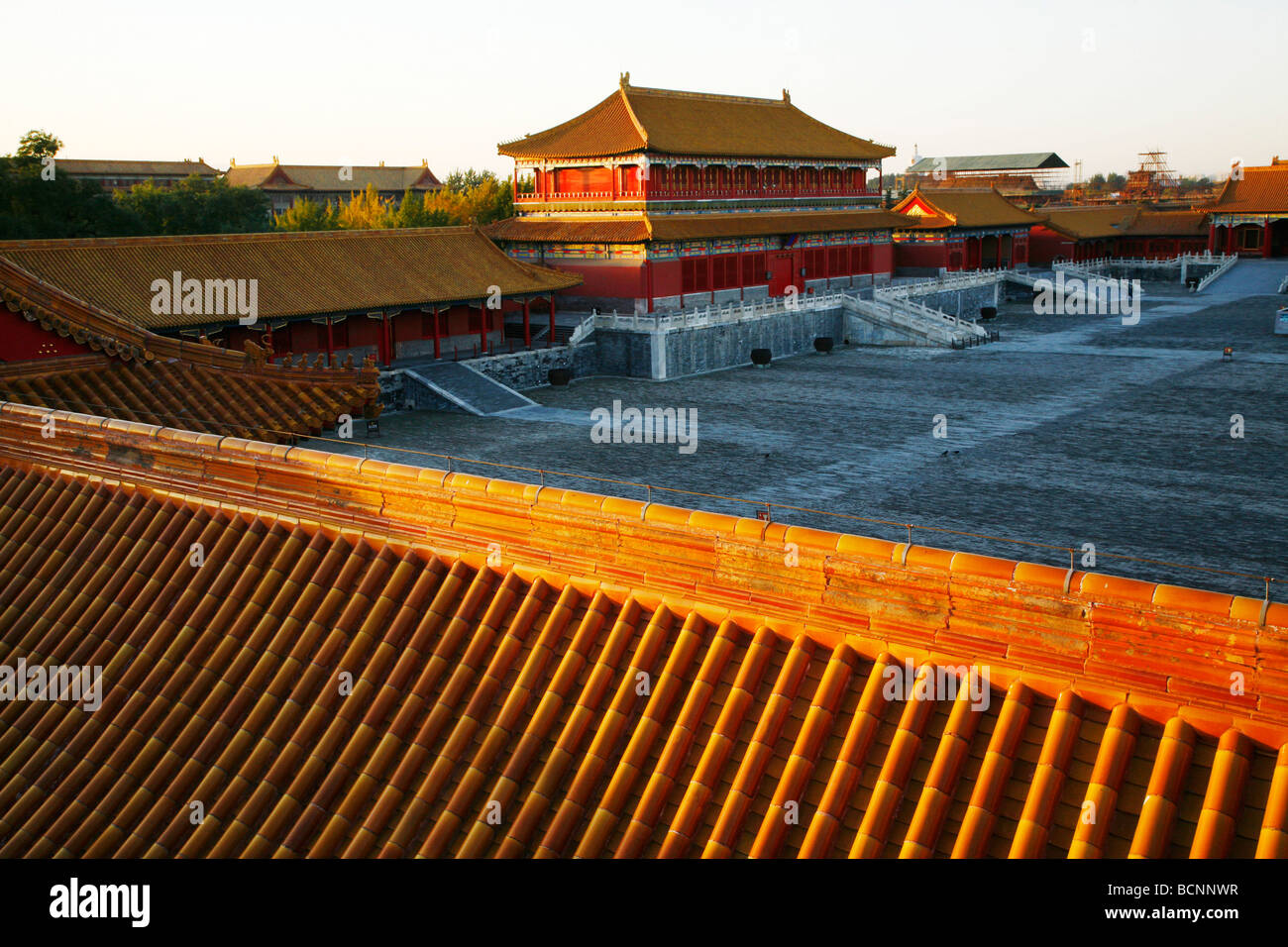 Pavilion of Manifesting Righteousness, Forbidden City, Beijing, China - Stock Image
