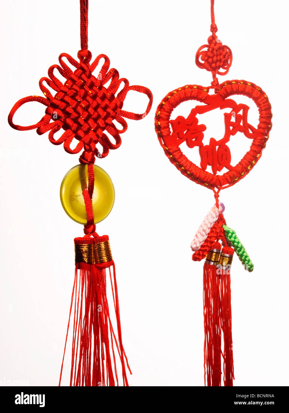 Two Chinese knots - Stock Image