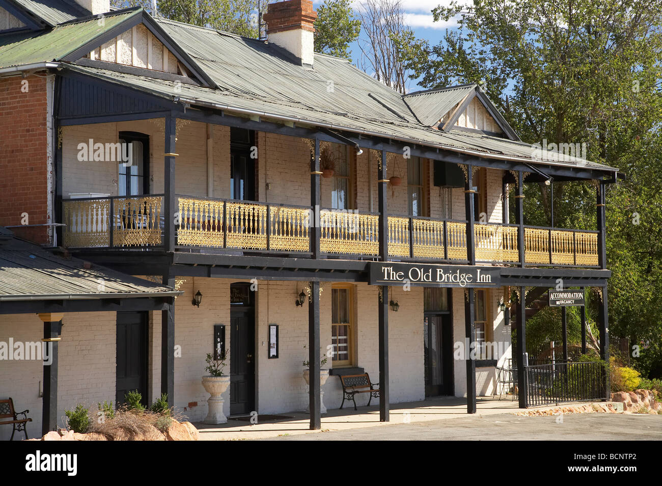 The Old Bridge Inn 1850s Gundagai Southern New South Wales Australia - Stock Image