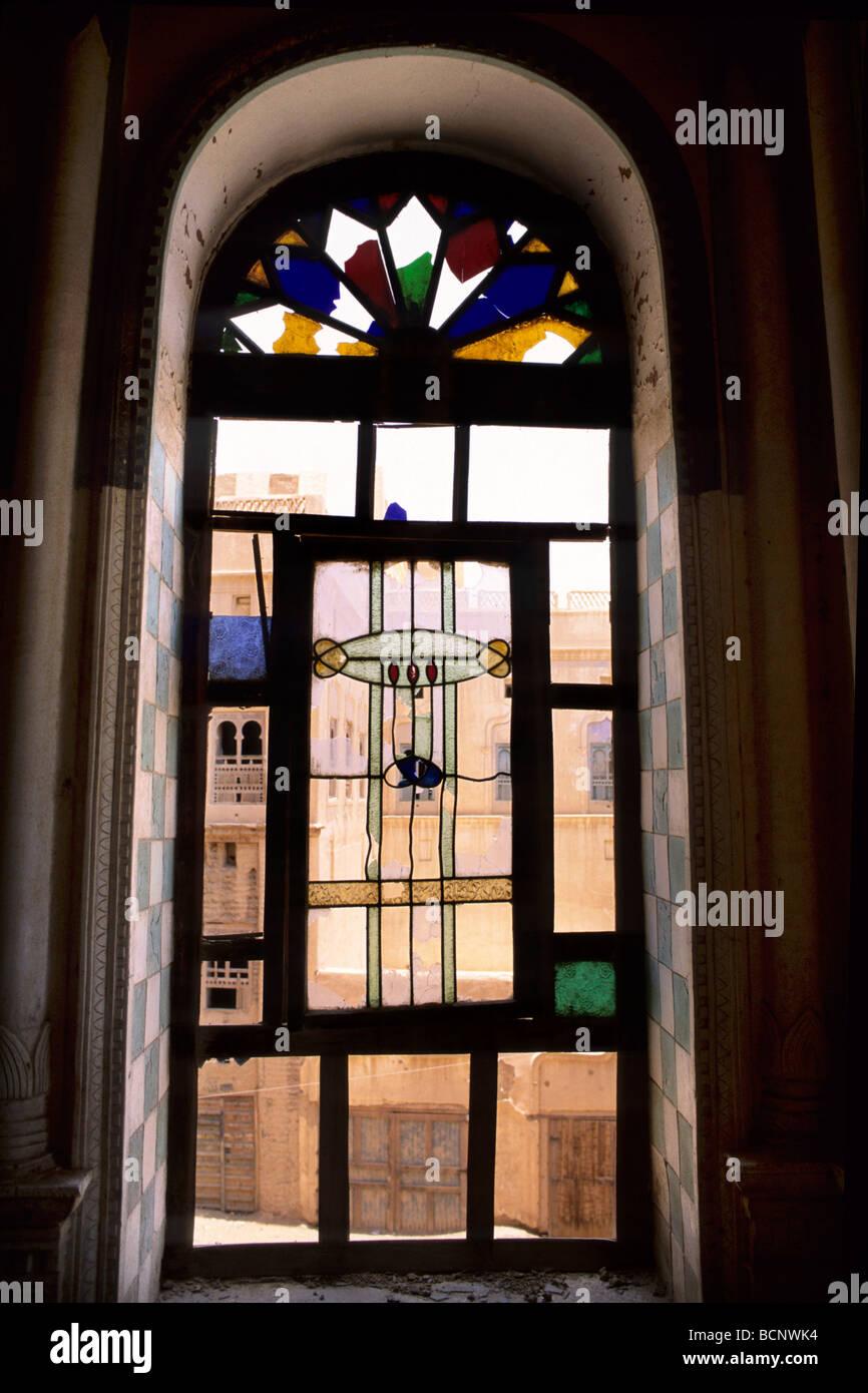 Yemen Tarim Glass Door Of The Sayyid Umar Palace