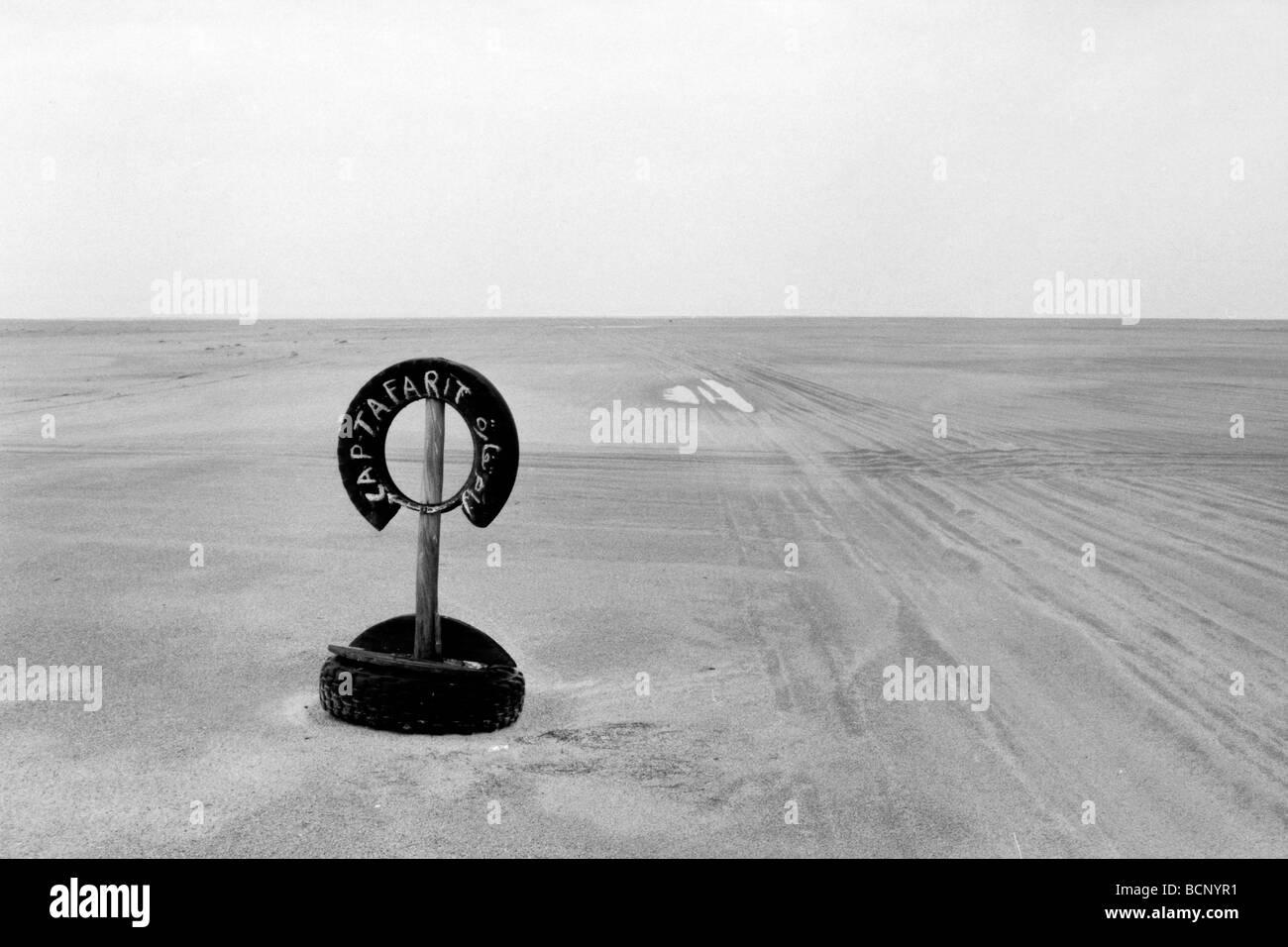 mauritania desert near nouakchott - Stock Image