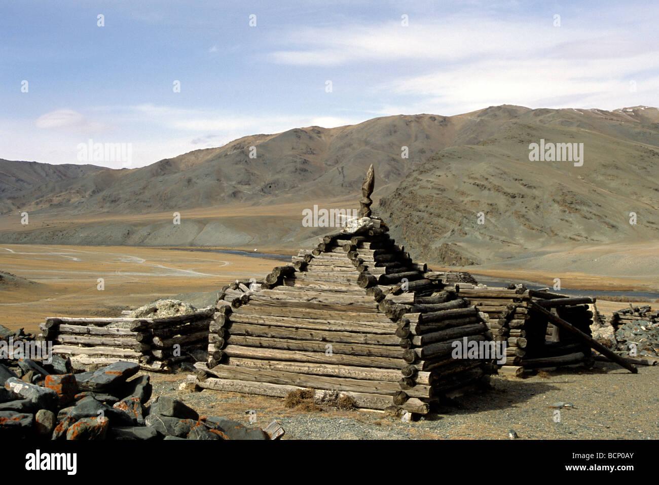 mongolia altai Stock Photo