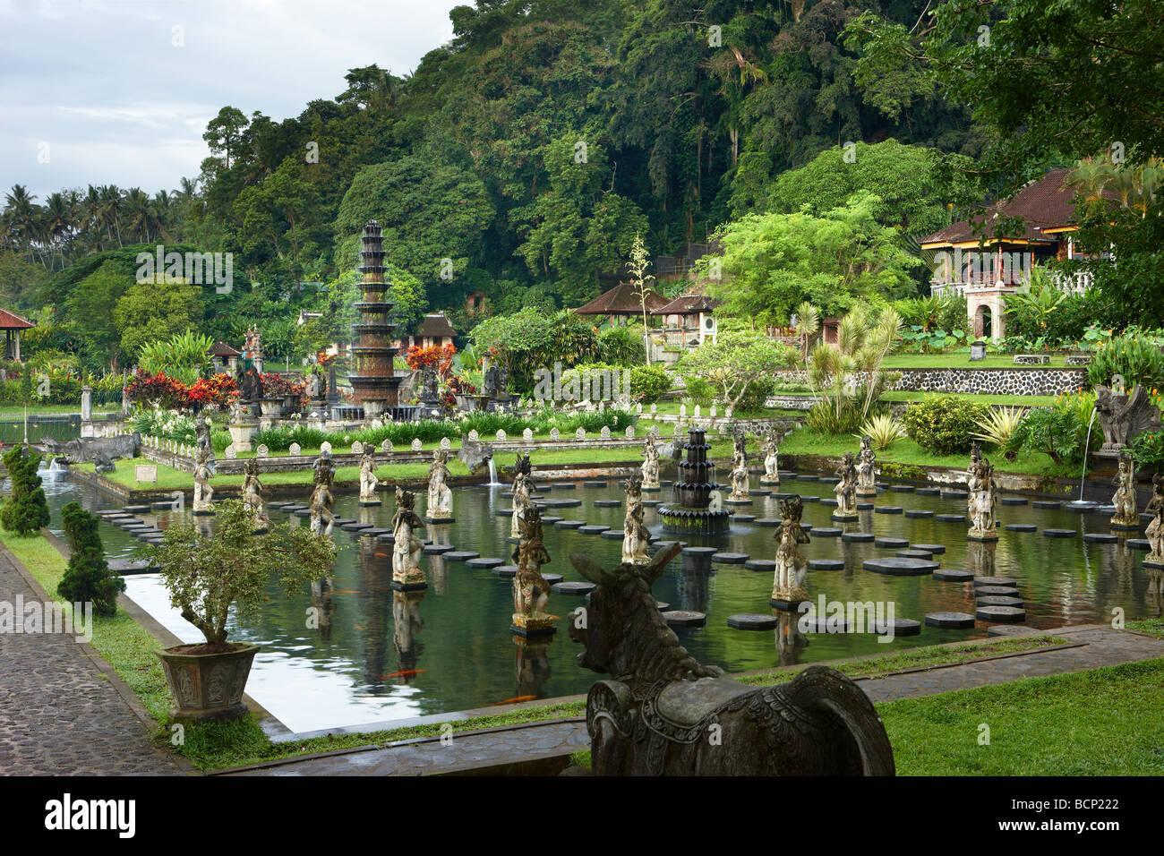 the water gardens at Tirtagangga, Bali, Indonesia - Stock Image