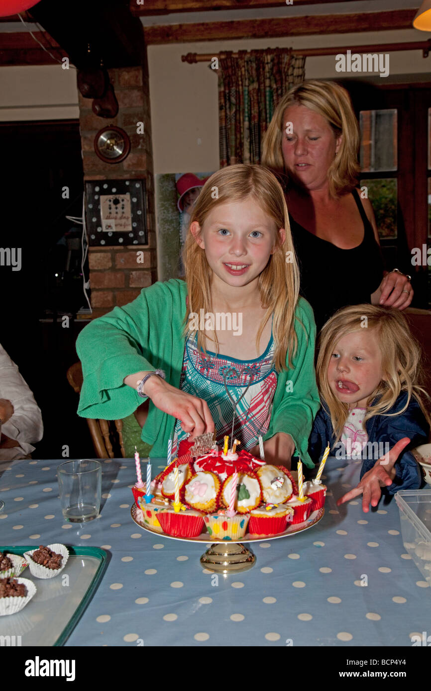 Terrific Nine Year Old Girl With Birthday Cake And Hungry Younger Sister Funny Birthday Cards Online Alyptdamsfinfo