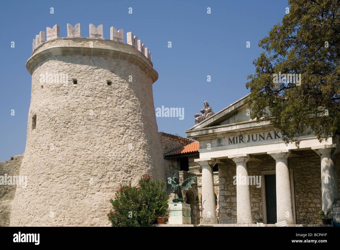 Croatia Rijeka Trsat castle Roman tower - Stock Image