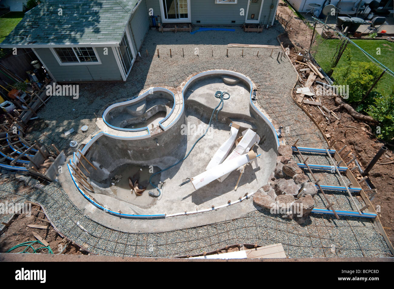 High Quality Backyard Swimming Pool Under Construction