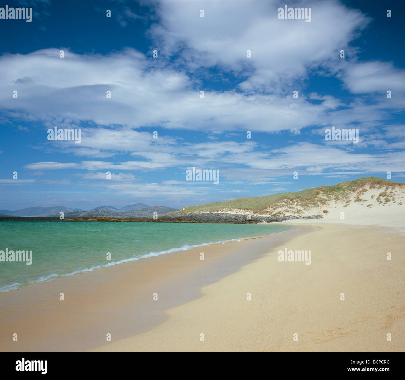 Scarista beach, island of Harris, Western Isles, Scotland. - Stock Image