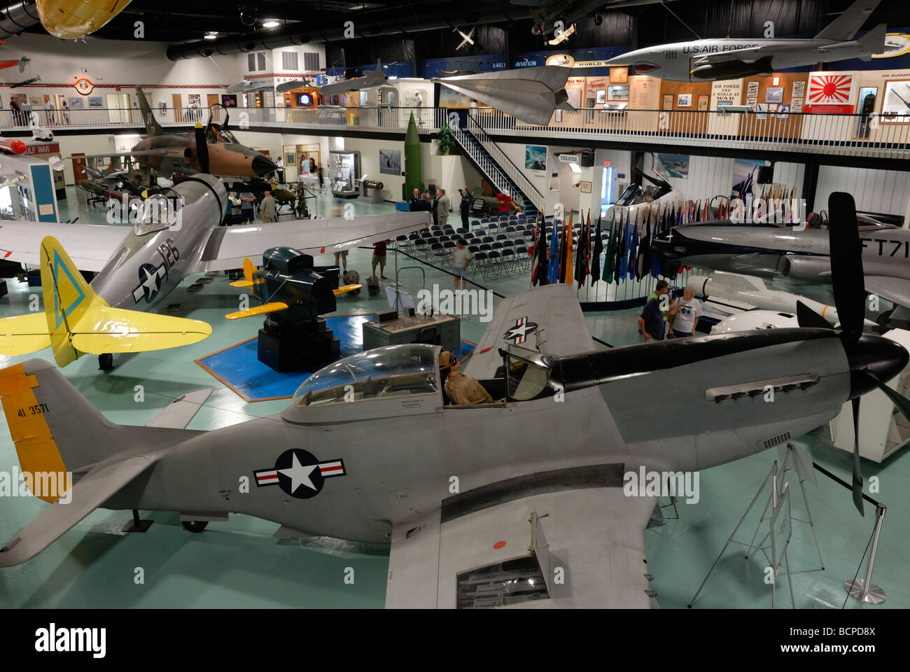 Interior of the Aircraft Armament Museum at Eglin Airforce Base Florida - Stock Image
