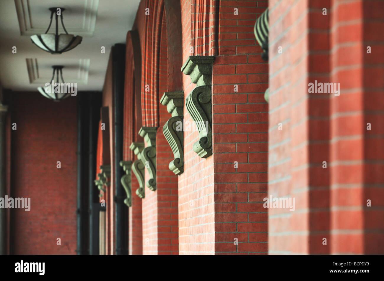Corridor of No. 9 The China Merchants Company Building, Shanghai, China - Stock Image