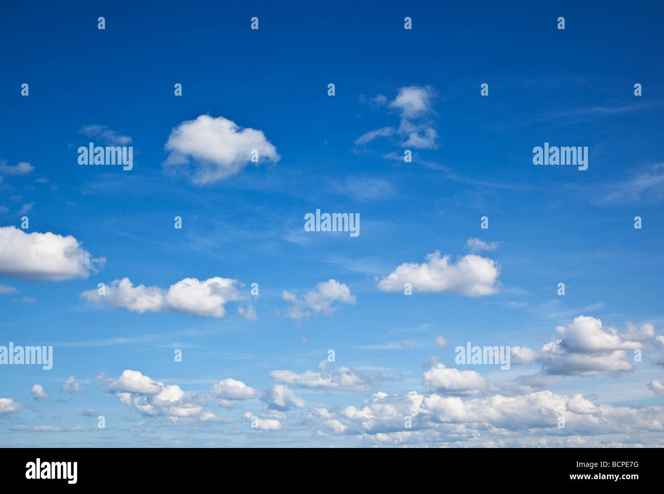 Summer Sky over the north East England Coast - Stock Image