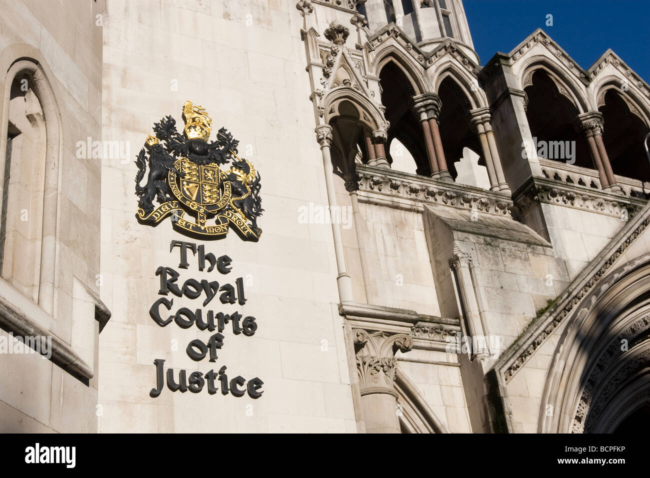 Royal Courts of Justice London Fleet Street - Stock Image