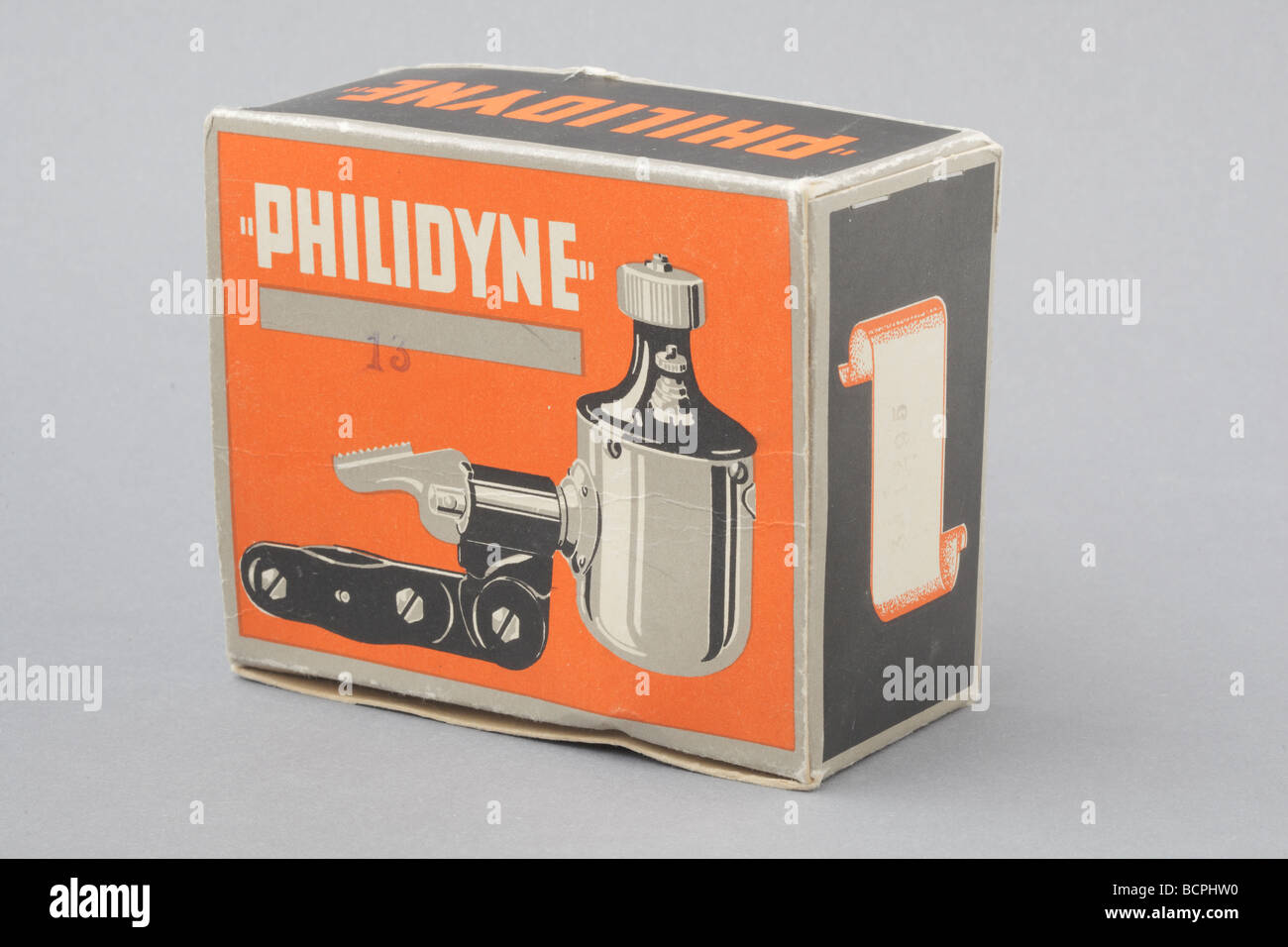 vintage philidyne dynamo cardboard box stock photo 25083212 alamy