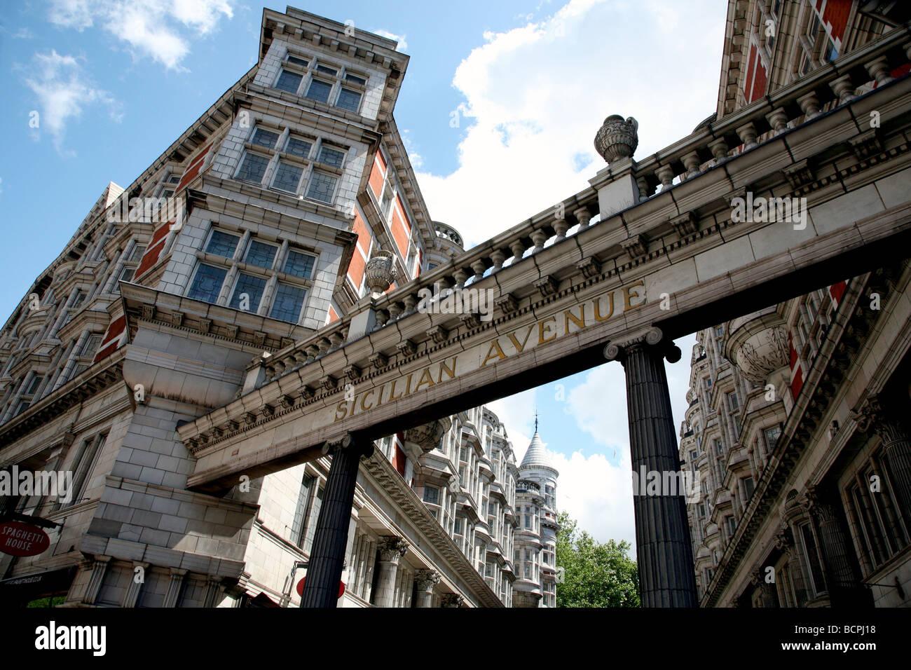 Sicilian Avenue, Holborn, London - Stock Image