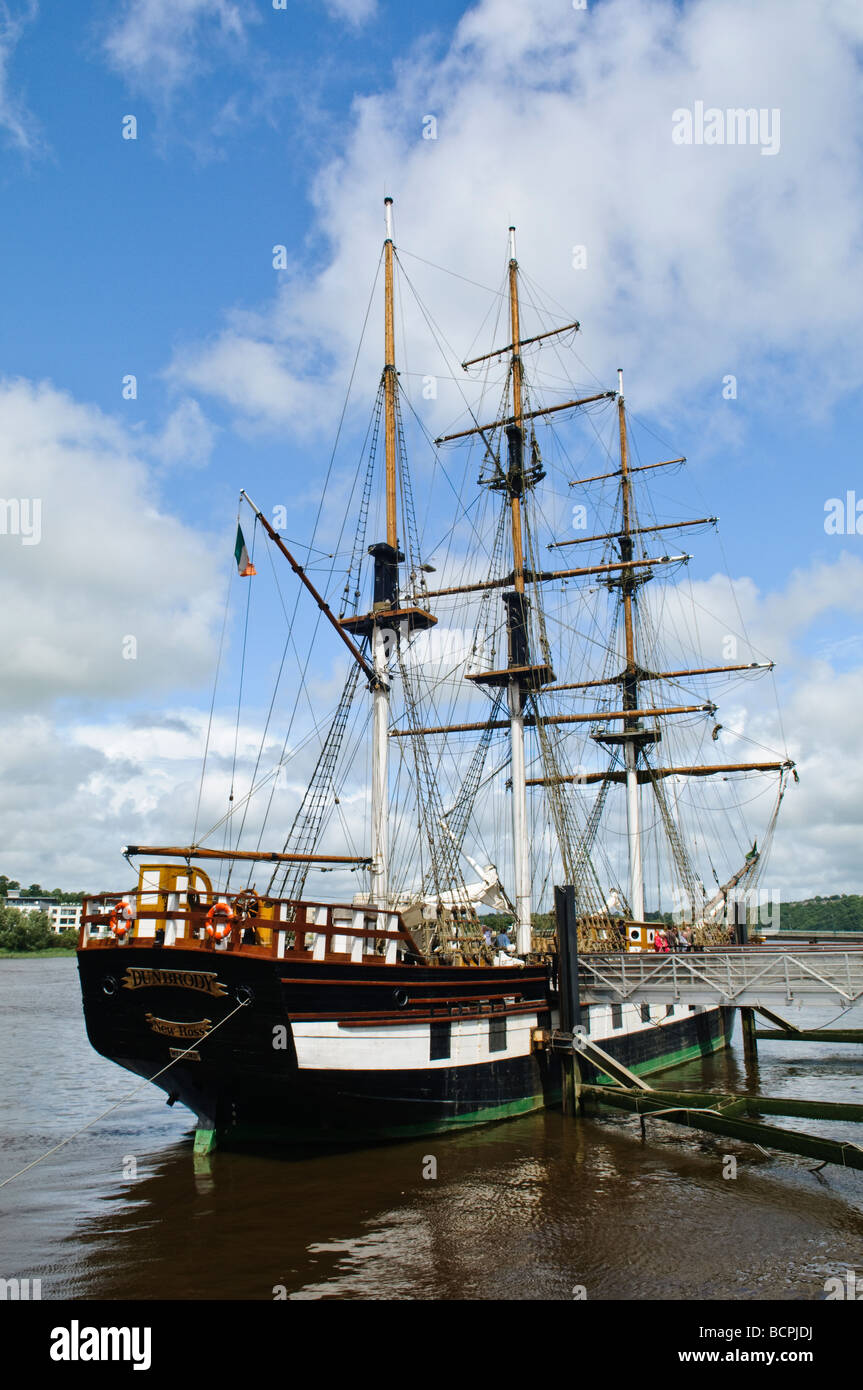 Dunbrody Famine Ship, New Ross, County Wexford - Stock Image