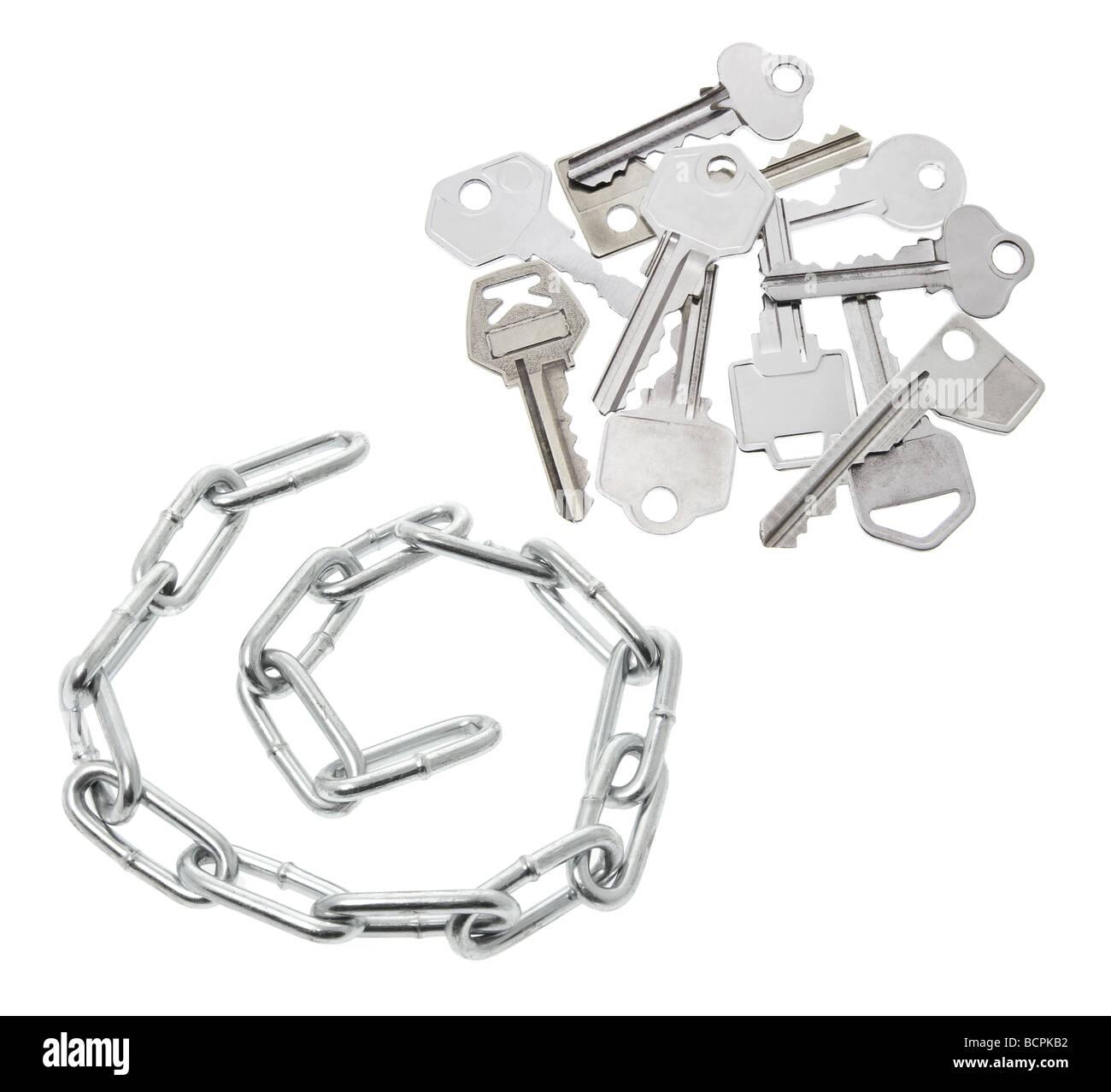 Chain and Keys Stock Photo
