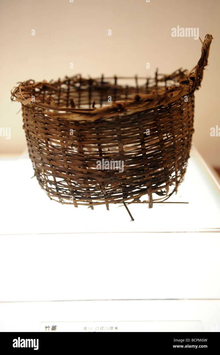 Well preserved Bamboo Braiser Netting excavated from Mawangdui Han Tomb, Hunan Provincial Museum, Changsa, Hunan - Stock Image