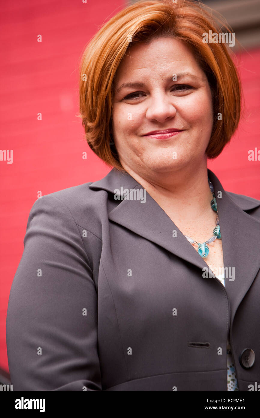 Council Speaker Christine C Quinn New York USA 15 May 2009 Stock Photo