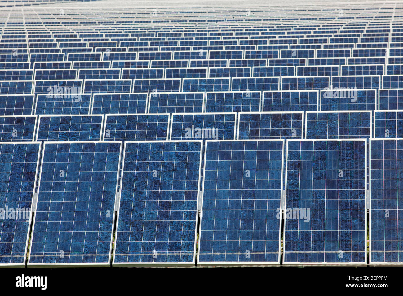 Photovoltaic solar collectors at the largest photovoltaic power plant in the United States - Stock Image