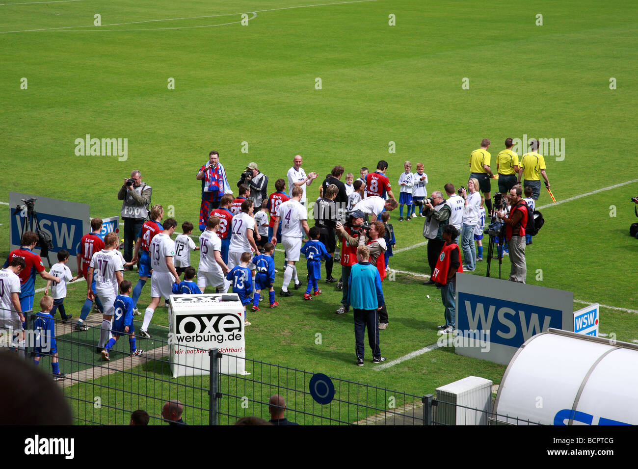 D-Wuppertal, Wupper, Bergisches Land, North Rhine-Westphalia, sports, football, 3rd Liga, 2008/2009, Wuppertaler - Stock Image