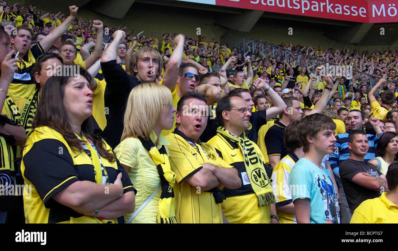 D-Moenchengladbach, Niers, Lower Rhine, North Rhine-Westphalia, sports, football, Bundesliga, 2008/2009, Borussia Stock Photo