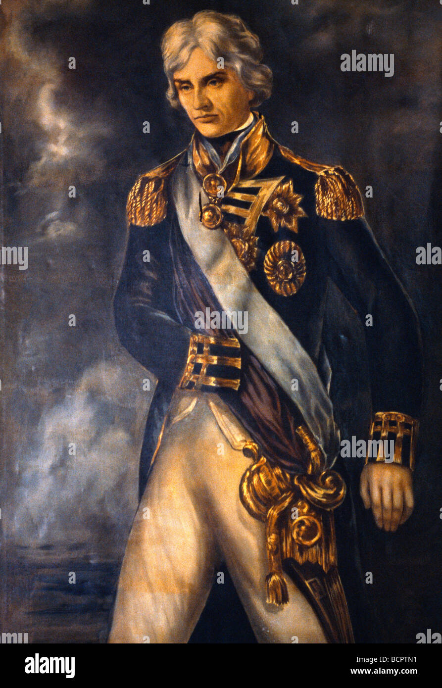 Nelsons Dockyard Antigua Portrait Of Admiral Lord Nelson