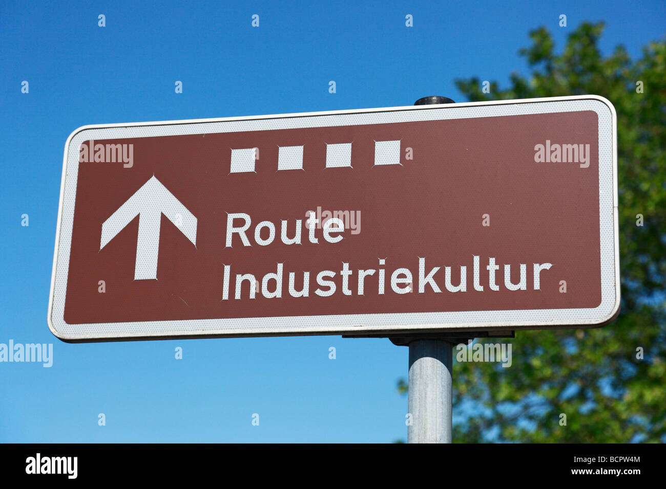 guide to the Route of Industrial Heritage, hard coal mining in the Ruhr region, industrial history, IBA project - Stock Image