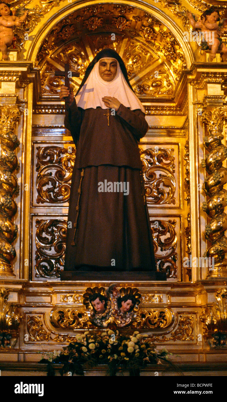 Madrid Spain Cathedral De La Almudena Statue Of St Angela De La Cruz - Stock Image