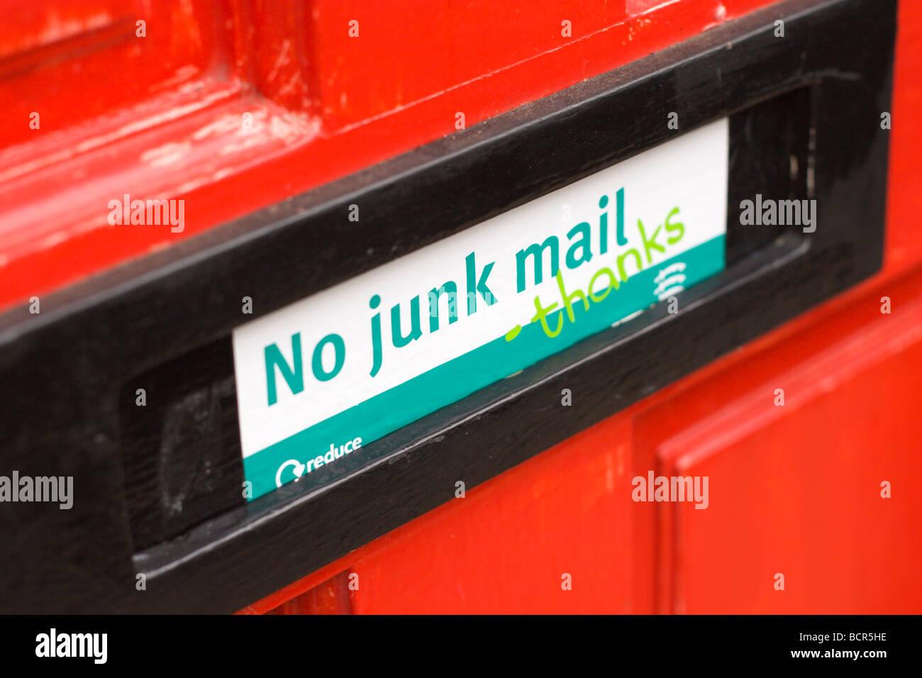 No junk mail sticke - Stock Image