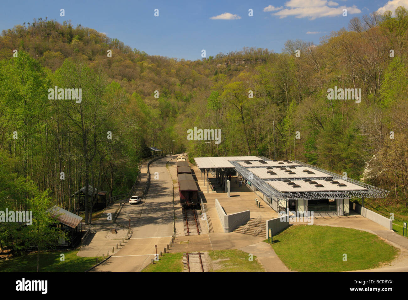 Blue Heron Historic Mining Community Big South Fork National River and Recreation Area Kentucky Stock Photo