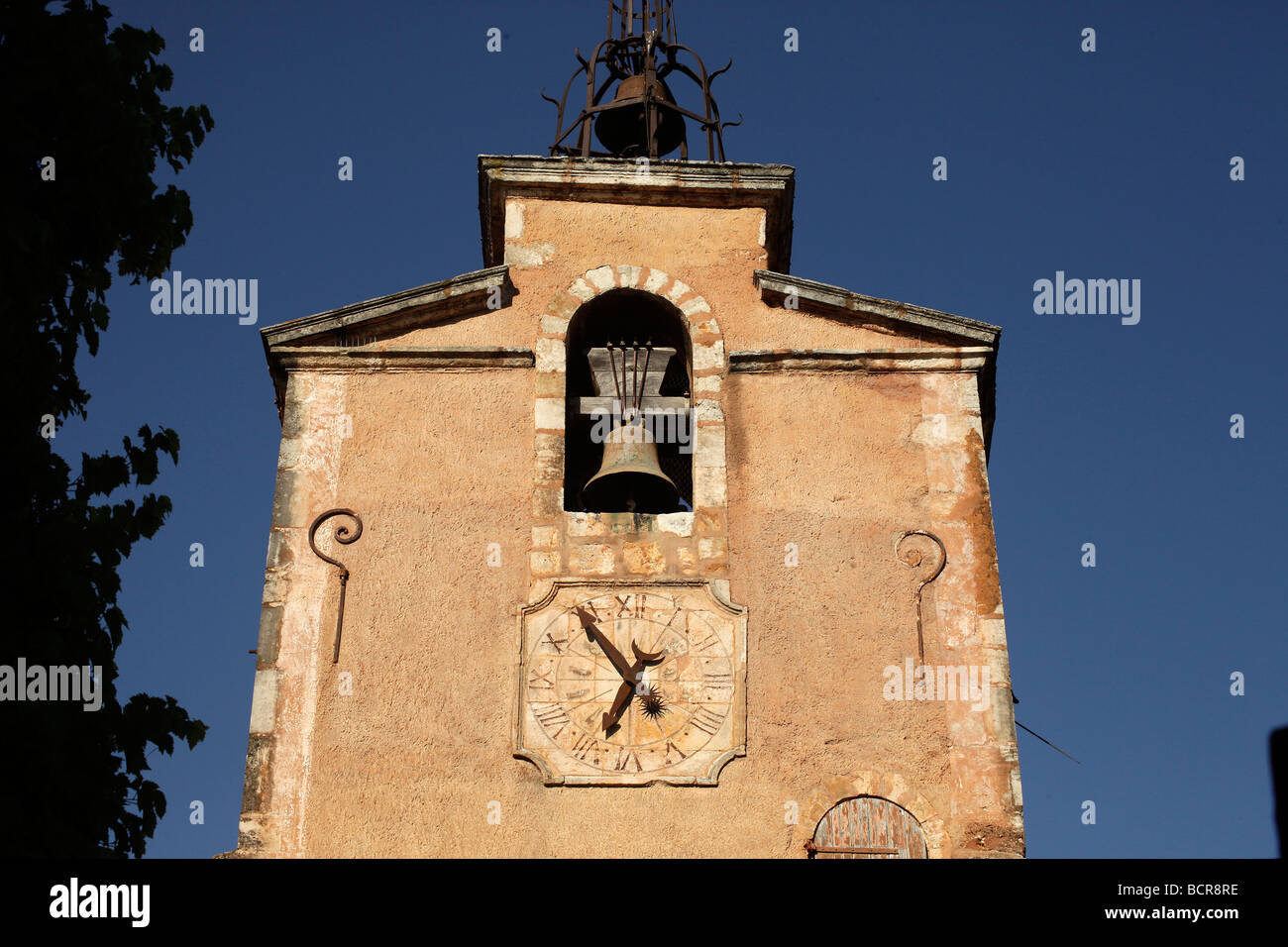 Watch tower in Roussillon Provence France Stock Photo