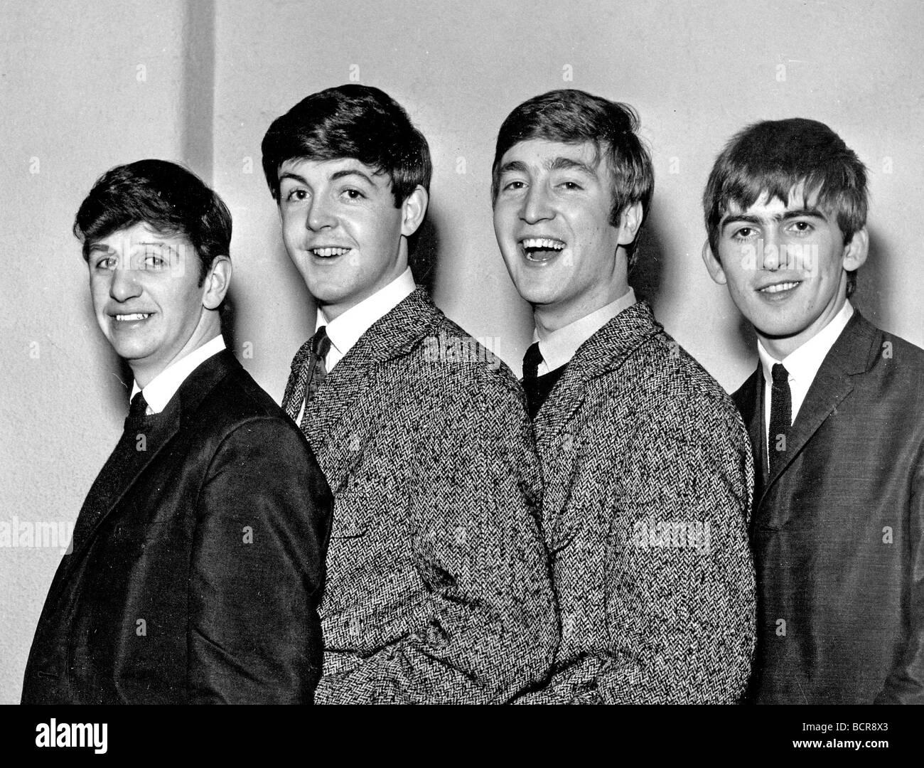 BEATLES in 1962 from left Ringo Starr Paul McCartney John Lennon and George Harrison - Stock Image