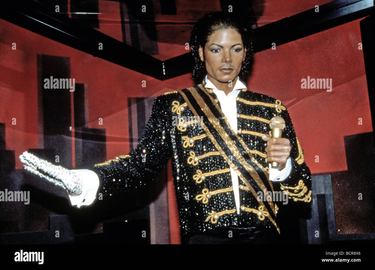 MICHAEL JACKSON  Waxwork model at the Rock Circus Piccadilly London in June 1997 - Stock Image