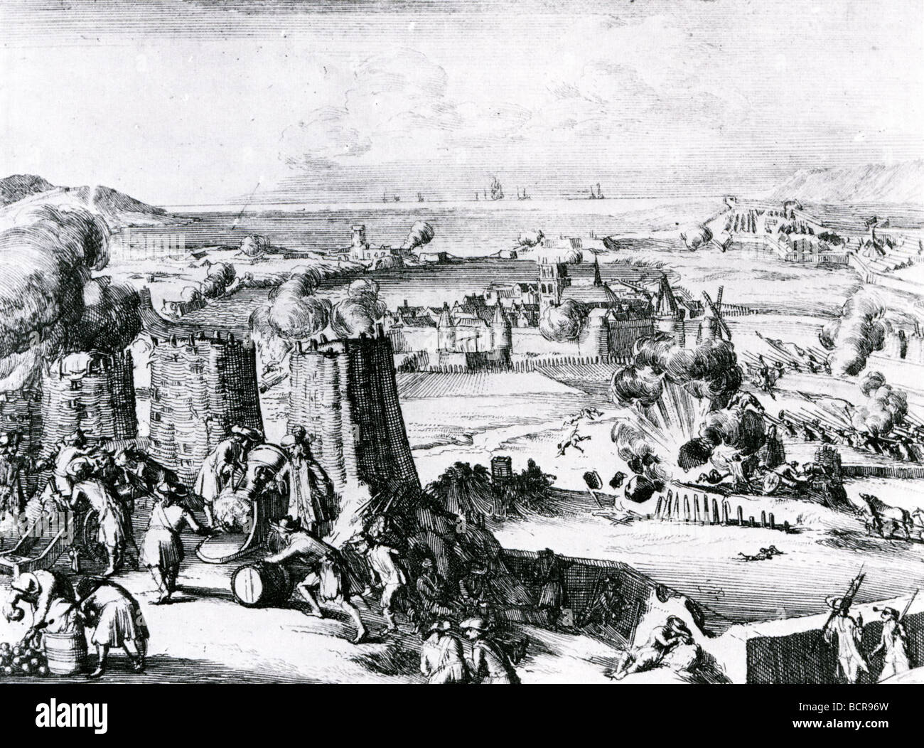 IRELAND - THE SIEGE OF DERRY IN 1689 - Stock Image