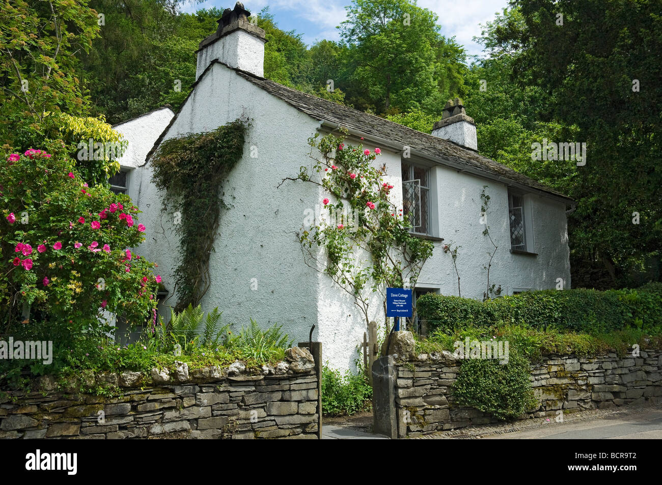 Dove Cottage Grasmere Cumbria England UK United Kingdom GB Great Britain - Stock Image