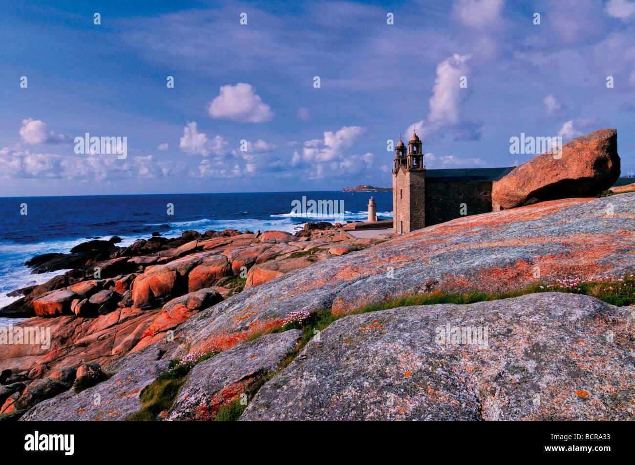 Spain, St. James Way: Sanctuary Virxe da Barca in Muxía, Galicia - Stock Image